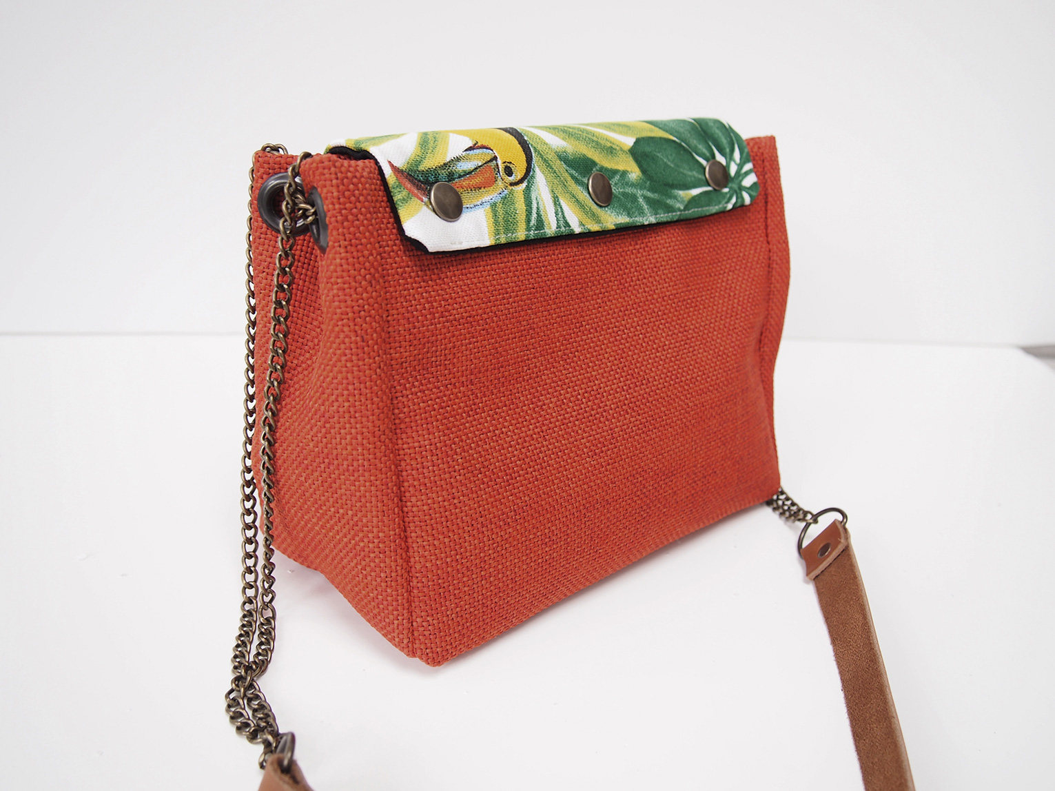 Sac June orange rabat au choix interchangeable