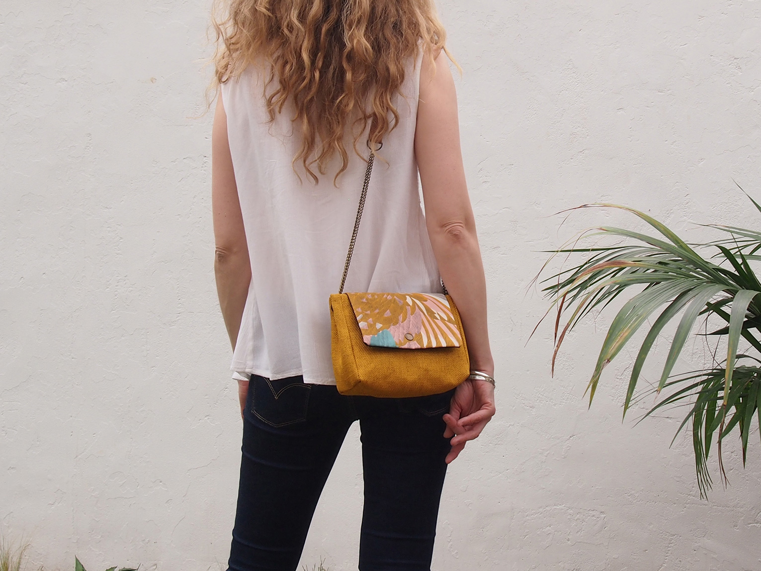Sac June ecru rabat au choix interchangeable